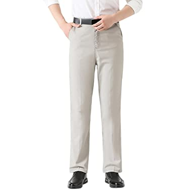 cheap fashion design limited guantity Zhhlaixing Mens Chinos Trousers Black Gray Slim Fit Stretch ...