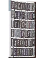 Suit Bible Tabs Laminated with Matte Film, Large Print Bible tabs for Men and Boy, 90 Bible Index tabs in Total, 66 tabs for Old and New Testament, Additional 24 Blank tabs