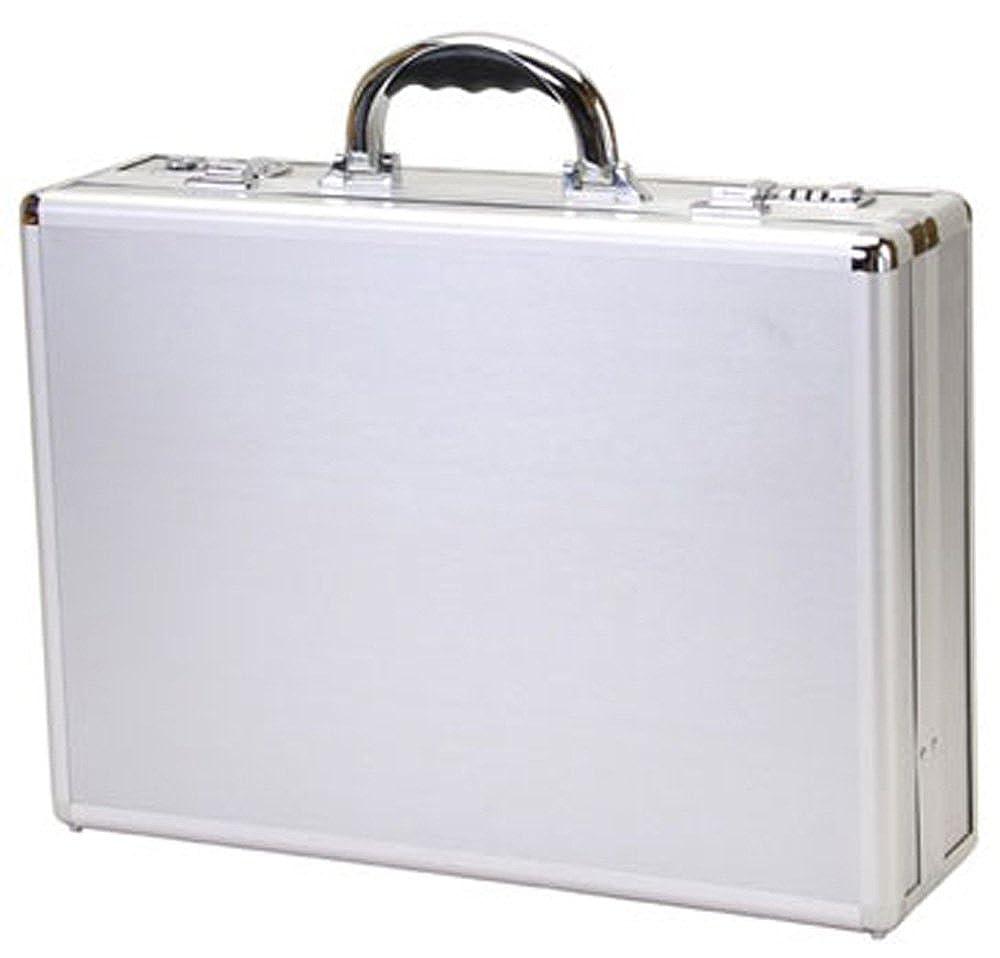 t.z. Case International t.z Aluminum Attache Case withシルバーストライプパネル、18 x 13 x 5 in B00XBV1MVQ シルバー