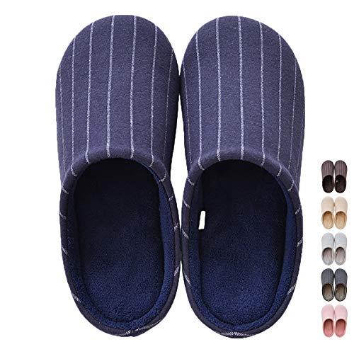 Foam Slip Slipper Indoor Shoes Women Flax Washable Non Cotton MAGILONA Sole 3 Men's Warm Soft Home Shoes Memory Navy Ix6Fwvf