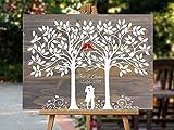 Guestbook Tree, Wedding Guestbook Tree, Personalized Wedding Guestbook, Wood Wedding Guestbook, Wedding Guestbook Alternative