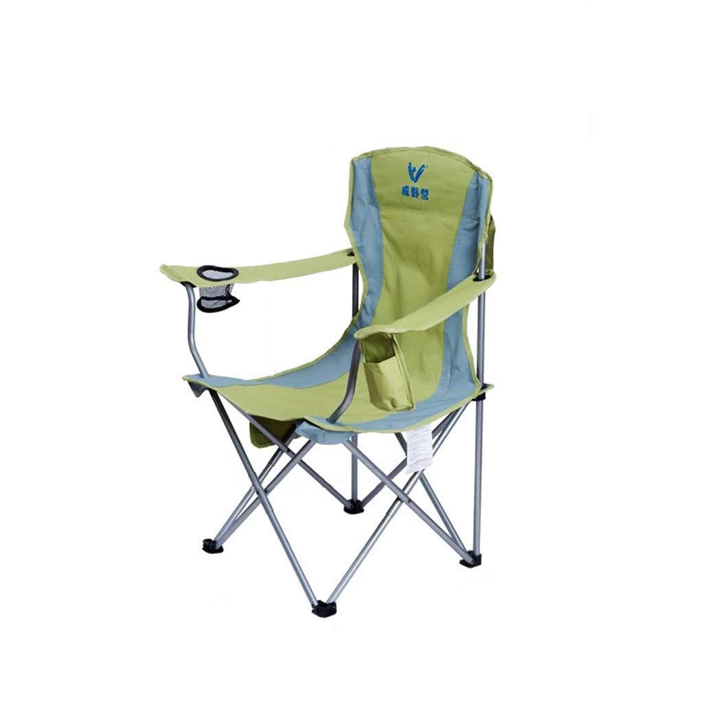 KTYXGKL Sedia Pieghevole per Esterni Sedia Leggera reclinabile Sgabello per Il Tempo Libero Spiaggia Sedia da Pesca Portatile verde 45x94cm Sedia Pieghevole