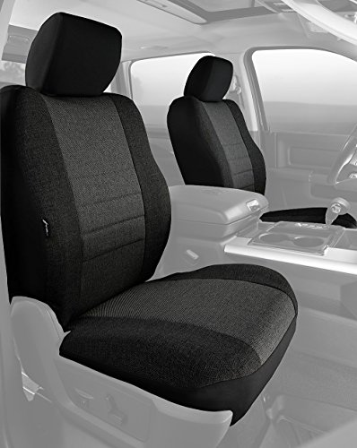 (Fia OE38-32 CHARC Custom Fit Front Seat Cover Bucket Seats - Tweed, (Charcoal))