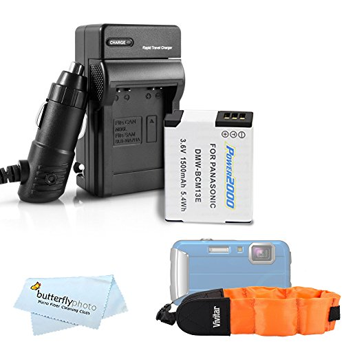 Battery And Charger Kit For Panasonic Lumix DMC-TS5, DMC-TS5K, DMC-TS5A, DMC-TS5S, DMC-TS6, DMC-TS6D, DMC-TS6R Tough Digital Camera Includes Replacement DMW-BCM13E Battery + Ac/Dc Rapid Charger + More