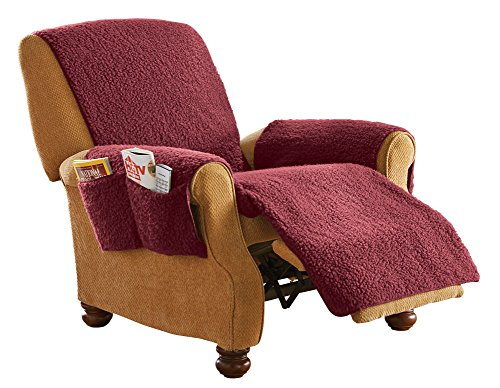 Protective Fleece Recliner Furniture Burgundy