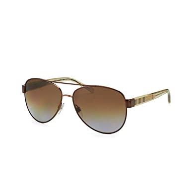 01d2ef1b6e0 Burberry Women s 0BE3084 Brushed Brown Transparent Light Brown Polar Gradient  Brown