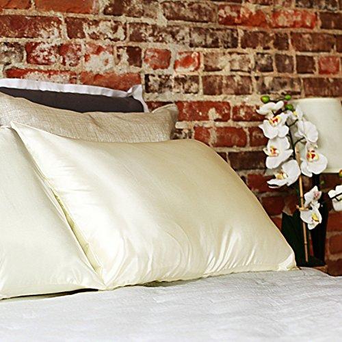 Grace Eleyae Charmeuse Satin Hair Care Pillowcase [Queen Size] Ivory
