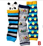 FANTASIEN Set of 3 Combed cotton Baby Boys Cartoon Kneepads Socks Leg Protector Warmer- for 0-3 Ages Boy (B)