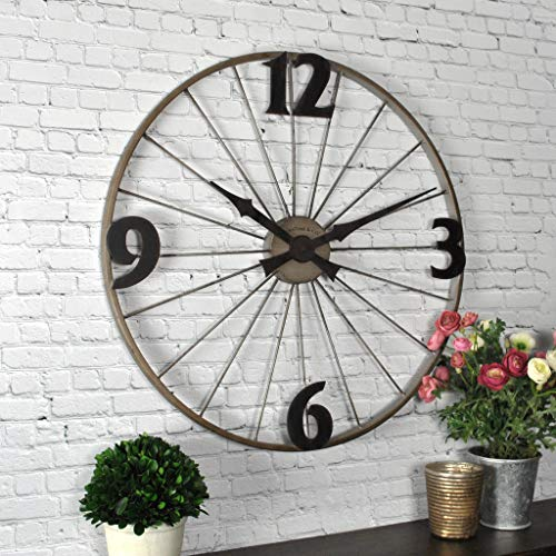 (FirsTime & Co 50077 Bicycle Wheel Wall Clock, 20
