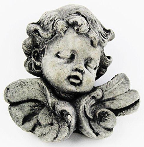 Fleur de Lis Garden Ornaments LLC Dreaming Angel Concrete Catholic Wall Plaque Cement Religious Figure Cast Stone (Dreaming Cherub Statue)