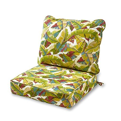 Greendale Home Fashions Deep Seat Cushion Set, Palm - 2 Inch Seat Cushion
