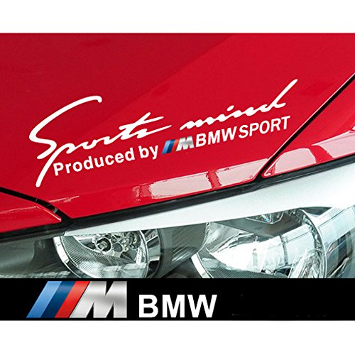 Car Decal Set - Encell Set of 2 Vinyl Sports Decal Car Sticker For BMW,White