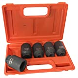 Cal Hawk Tools BSSAN5P 5 Piece 1/2'' Drive Deep Impact Socket Set