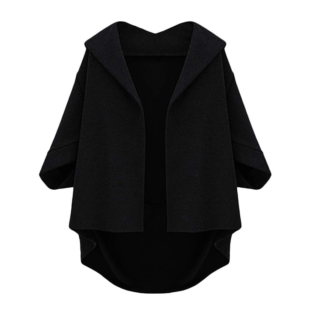 Faionny Womens Autumn Bat Sleeves Down Jacket Winter Woolen Coat Cropped Sleeves Thick Outwear Blouse Clearance Sale