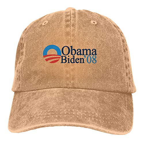 Obama Biden 08 Vintage Washed Baseball Cap Adjustable Hats Funny Humor Irony Graphics of Adult Gift ()