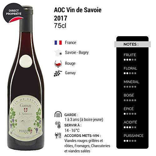 Vin-de-Savoie-GamayLAirelle-Rouge-2017-Maison-Perret-Vin-AOC-Rouge-de-Savoie-Bugey-Cpage-Gamay-Lot-de-12x75cl