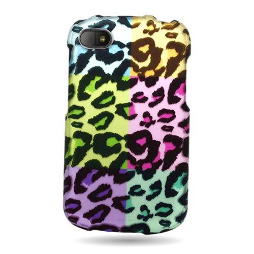 CoverON Slim Hard Case for BlackBerry Q10 with Cover Removal Tool - (Colorful Leopard) ()