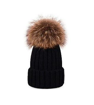 380b23aa901 Fashion Parent-child Winter Warmer Chunky Crochet Knit Hat Womens Girls Baby  Large 5.9 quot