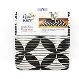 Fresh Kitty Foam Litter Mat with Grey/Black Circles