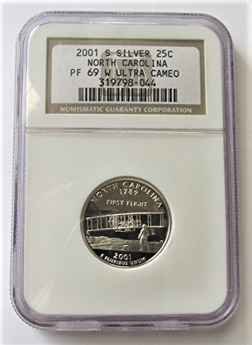 2001 S North Carolina Silver State Quarter PF69 NGC