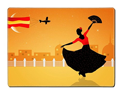Flamenco Dancer Costume Ideas (Liili Placemat Natural Rubber Material Image ID 21730597 Illustration of flamenco dancer)