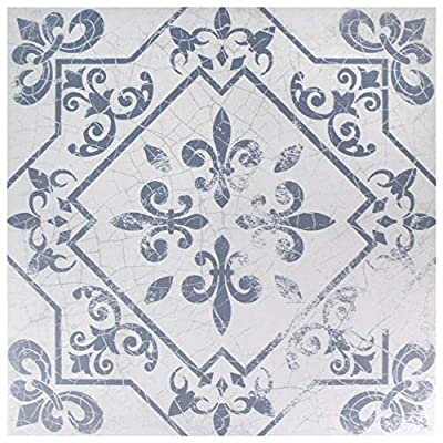 SomerTile FCG18ATA Aegean Ceramic Floor and Wall Tile, Azul