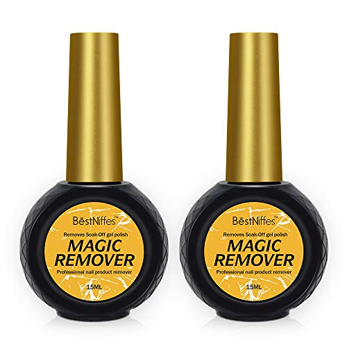 Magic Soak-Off Gel Nail Polish Remover,Professional Remover Nail Polish Delete Primer Acrylic Clean Degreaser For Nail Art Lacquer, Easily & Quickly -15ML (2 Pack)