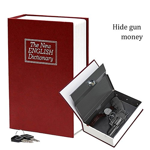 Large New Red English Dictionary Secret Book Safe Money Box Jewelry Lock HO-004 (BLACK) by HANBUN (Image #5)