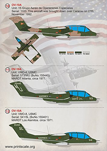 Wet Decal for REPUBLICWET Decal for North American OV-10 Bronco Model Decals 1/72 PRINT SCALE 72-317 Wet Decals for… 4