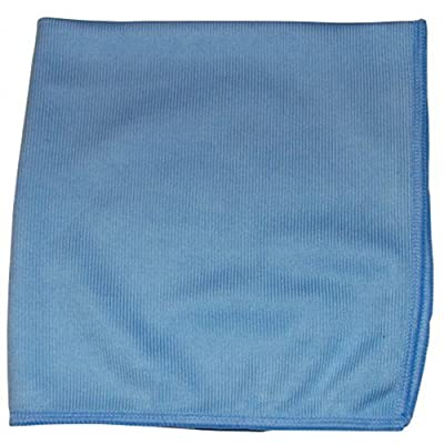 CPI MGLASS Glass Cleaning Microfiber Cloth, 16-Inch x 16-Inch, Blue (Pack of 12): Industrial & Scientific
