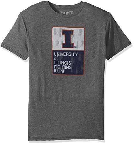 (Original Retro Brand NCAA Illinois Illini Men's Triblend Tee, Medium, Steel Grey)
