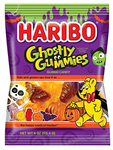 Haribo of America Ghostly Gummies, 4 oz Bag (Pack of - Halloween Snacks Themed