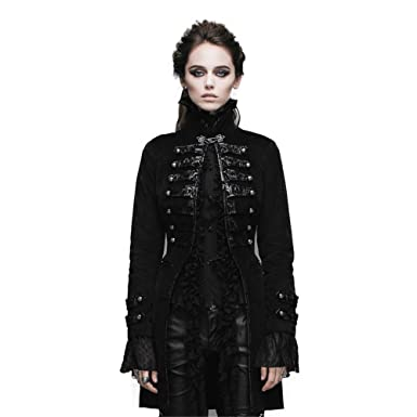 53050c766 Devil Fashion Steampunk Women Winter Coat Gothic Long Cotton Jacket (XS)