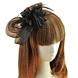 Fascinator Headband Flower Headwear Cocktail Party Wedding Headdress for Women