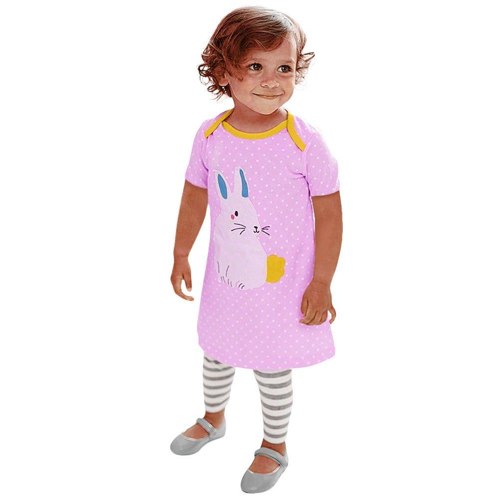 最新情報 ファッション漫画印刷ドレス ピンク、fimkaulコットンベビーGilrs半袖ストライプ動物ドレスHappy Easter 18M Easter 18M ピンク B07B2PWMKJ, アクアofサイエンス:eadd0ccc --- a0267596.xsph.ru
