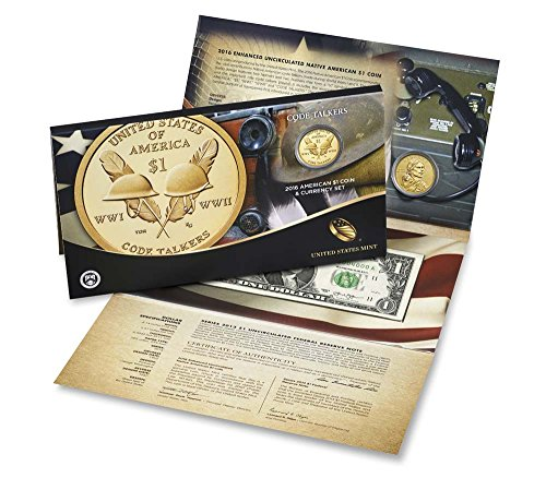 2016 S Sacagawea Coin And Currency Set Enhanced Dollar US Mint Proof
