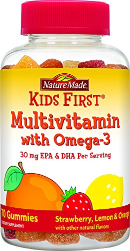 Nature Made Kids First Multivitamin with Omega-3 Gummies, 70 Count