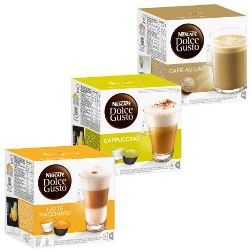 Nescafé Dolce Gusto Cream Set: Latte Macchiato, Cappuccino, Au Lait, 3 x 16 - Mean Dolce