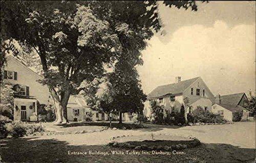 White Turkey Inn - Entrance Buildings Danbury, Connecticut Original Vintage Postcard