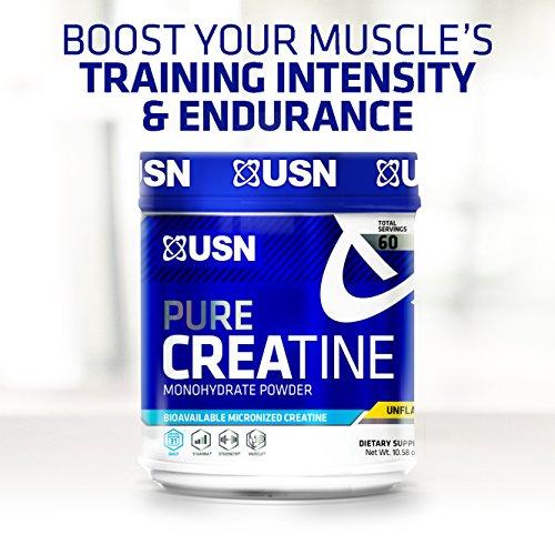 USN Pure Creatine Monohydrate Powder, 500 Grams