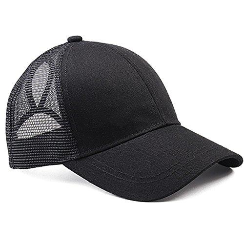 2018 Ponytail Baseball Cap Women Messy Bun Baseball Hat Snapback black by Gome-z Snapback (Image #1)