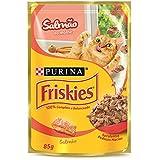 Nestlé Purina Friskies Ração Úmida Para Gatos Adultos Salmão Ao Molho 85g