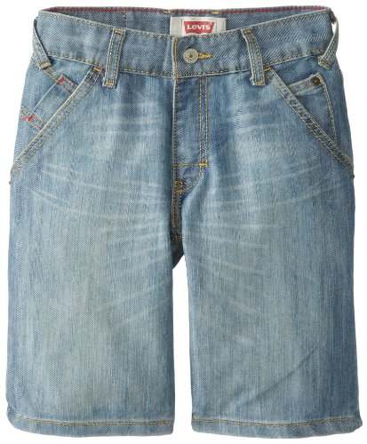 Levi's Big Boys' Holster Denim Shorts, Scout, 14 (Boys Denim Jean Shorts)