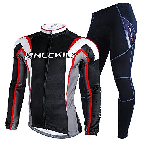 NUCKILY Men's Lurker Style Fleece LS Sport Shirt Suit Cycling Wear Large -  FO SHAN NUCKILY SPORT PRODUCTS CO.,LTD, NJ534-W0103NS900-W1303