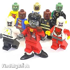 Lego LOOSE 8x City Zombie Dance Ghost Michael Monster Fighter Custom Halloween Minifigures (NEW Lego Sold Loose as Image Show) M720 II