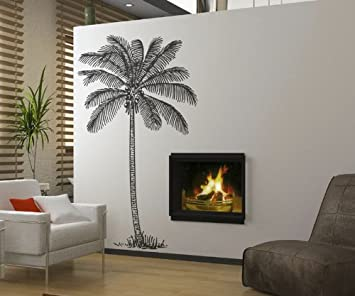Vinyl Wall Art Decal Sticker Coconut Palm Tree 72u0026quot;x41u0026quot; ... Part 76