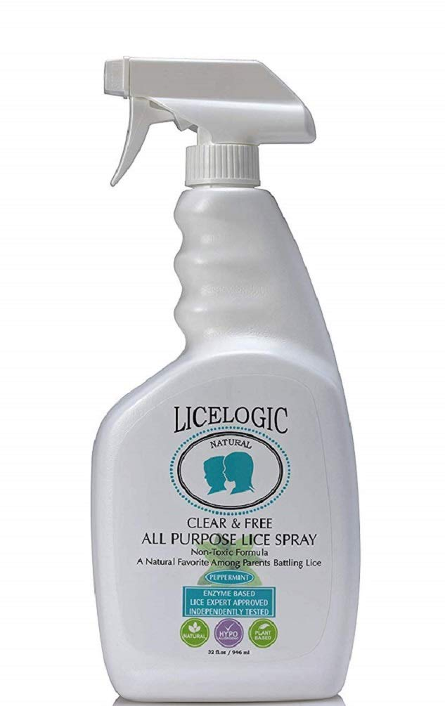 LiceLogic Household Lice Spray for Furniture and Bedding | Non-Toxic Treatment to Kill Super Lice Eggs and Nits | Safe For Daily Use 32 oz by LiceLogic