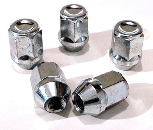 Set di 4 x M12 x 1.25 19mm Esagonale in Lega Ruota Dadi Nero