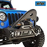 EAG Front Bumper Stinger with D-rings and Fog Lights Hole for 07-18 Jeep Wrangler JK Offroad