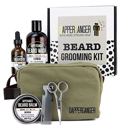 dapperganger beard kit grooming for men beard growth. Black Bedroom Furniture Sets. Home Design Ideas